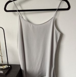 Uniqlo Gray Spaghetti Tank Top